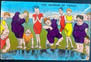 1910 Bedford England Picture Postcard Cover To Cottonera Malta Mirror Of Venus