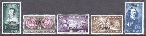 South West Africa - Scott #166-170 - MH - SCV $4.25