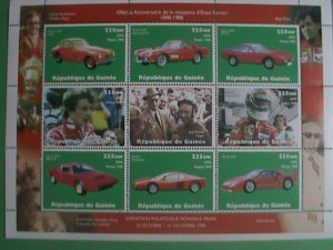 1998-GUINEA STAMP-CLASSIC RACE CAR & THE WINNERS- MINT-NH FULL STAMP SHEET