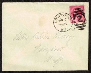 US #220 on cover - Louisville KY to Fairport NY (3Stars)