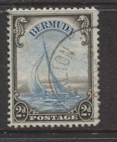 Bermuda - Scott 109 - Yacht Lucie - 1936 - VFU - Single - 2d Stamp