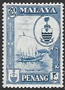Malaya Penang #62 Mint Hinged Single Stamp
