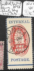 BRITISH CENTRAL AFRICA (PP1901B) CHECK STAMP SG 57AB  SON CDS VFU