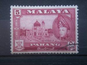 PAHANG, 1957, used 5c, Sultan Abu Bakar Scott 75