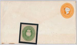 BRITISH EAST AFRICA -  POSTAL STATIONERY COVER : H. & Gage # 3a + #1 cut-out