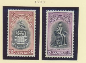 British Virgin Islands Scott #96 To 97, Mint Never Hinged MNH, Two Stamp Univ...