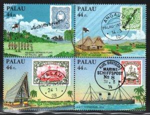 Palau # C6 - C9 ~ Cplt Set, Block of Four ~ Mint, NH