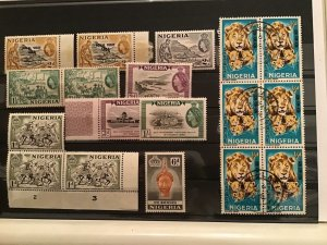 Nigeria mounted mint and used stamps  R21684