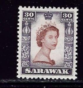 Sarawak 207 MNH 1955 QEII