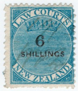 (I.B) New Zealand Revenue : Law Courts 6/-