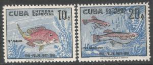 CUBA E26-27 MNH FISHES R122