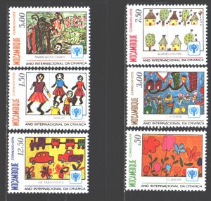 Mozambique. 1979. 694-99. UNICEF children's drawings. MNH.