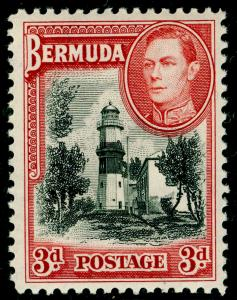 BERMUDA SG114, 3d Black & Rose Red, LH MINT. Cat £50.
