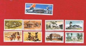 South West Africa #402-410  MNH OG  2 sets plus single   Free S/H