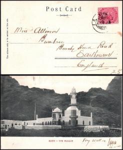 Goldpath: Aden postcard 1903, to England  _CV23_P8