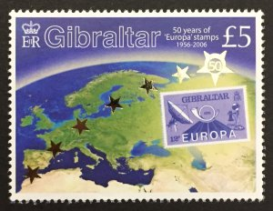 Gibraltar 2005 #1026, Europa 50th Anniversary, MNH.