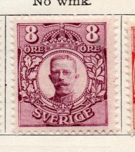 Sweden 1910-11 Early Issue Fine Mint Hinged 8ore. 252902