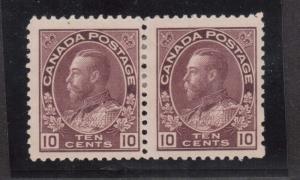 Canada #116a Mint Pair