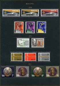 MALTA LOT D  OF MINT NEVER HINGED  STAMPS AS SHOWN