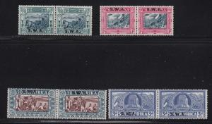 South West Africa Scott #'s B5 - B8 pairs set mint hinged scv $ 127 ! see pic !