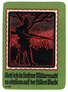 (I.B-CK) Germany (Great War) Cinderella : Propaganda Seal (I Stand)