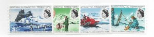 British Antarctic Territory, 20-23, Scientific Work Antarctica-25th Singles, MNH