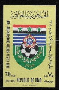 IRAQ, 476A , MNH, S.S, SOCCER CHAMPIONSHIP 1968