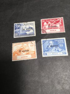 Aden Sc. #32-35 Cpl. VF Used 1949 UPU CDS 2015 Scott Cat. $8.95