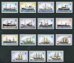 Falkland Is SG331A/45A 1978 Ships (no imprint) Set U/M