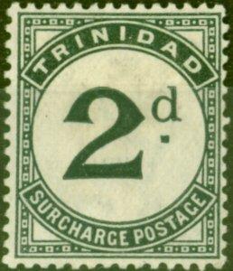 Trinidad 1885 2d Slate-Black SGD3 Fine Mtd Mint (2)