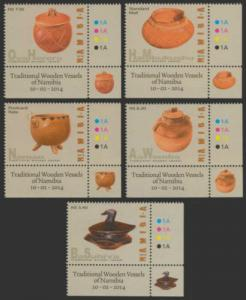 Namibia 2014 Wooden Vessels of Namibia 4 Stamp Sheet + S/S 14K-009