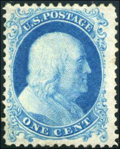 1975 United States Postage Stamp #40 Mint F/VF Disturbed Gum