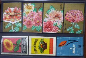 Match Box Labels! flora flower flowers nature sunflower yugoslavia GJ1