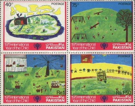 PAKISTAN MNH STAMPS(**)International Year of the Child - Children Painting- 1979