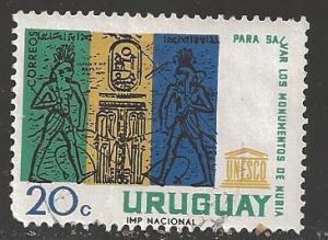 Uruguay 1964 20c UNESCO, Scott #713, used