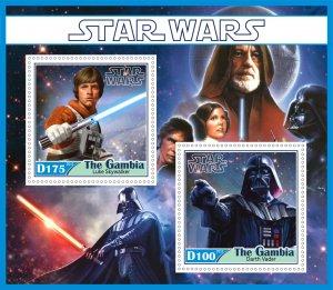 Stamps. Cinema Star Wars Set 2 sheet perforated