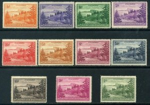 Norfolk Island 1947 Part Set SG1 to SG11 to 1/ Mounted Mint