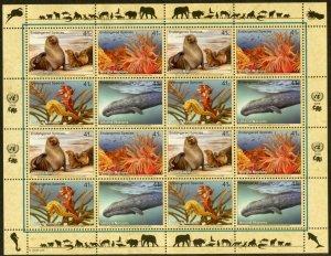 UNITED NATIONS Sc# NY 949-52 GE480-3 VI417-20 2008 Endangered Species Sheets MNH