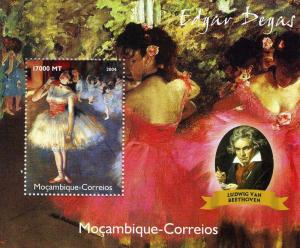 Mozambique 2004 BEETHOVEN Edgar DEGAS Paintings s/s Perforated Mint (NH)