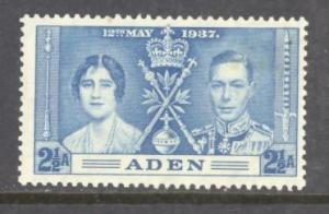Aden  Sc # 14 mint hinged (RS)