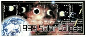 Maldives MNH S/S Solar Eclipse Space 1999 6 Stamps