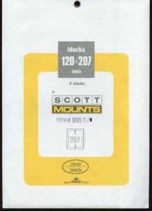 Scott (Prinz) Mounts, 207(h) x 120(l), (207x120), Clear - 4 blocks.