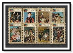 Rwanda #523-530 Paintings Set MNH