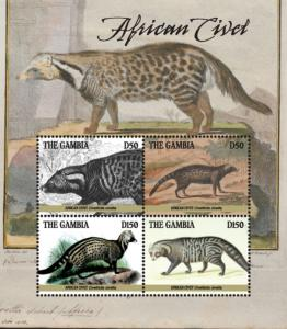 Gambia 2019 2019 African Civet (ss/4v)