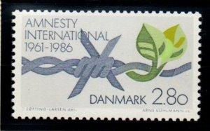 Denmark Sc 790 1986 Amnesty International 25 Years stamp mint NH