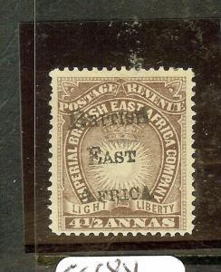 BRITISH EAST AFRICA (P3010B) 4 1/2A    SUN SG39B BRANDON CERT     MOG