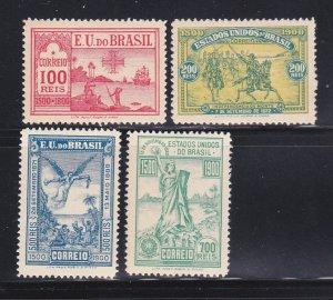 Brazil 162-165 Set MH Discovery Of Brazil