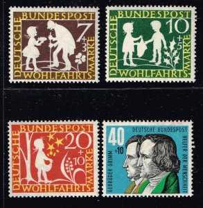 GERMANY SEMI POSTAL STAMP 1959 Charity Stamps - Fairytales MH/OG SET