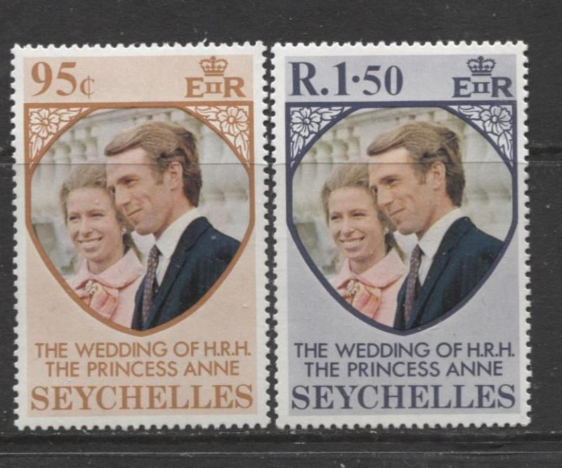 Seychelles - Scott 311-12 - Royal Wedding Issue -1973 - MH - Set of 2 Stamps