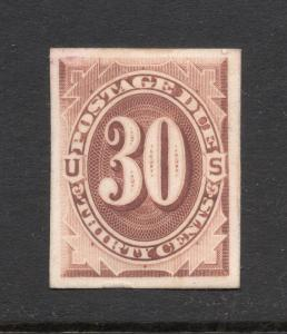 J20P4 Red Brown - 30 Cent Postage Due - Proof on Card